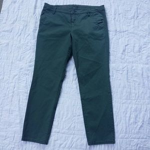 Kut From the Kloth Ankle Trouser Pants Jade Green
